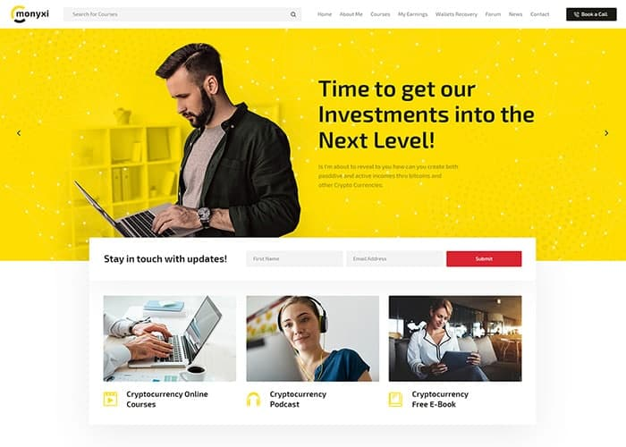 Cryptocurrency Website Templates