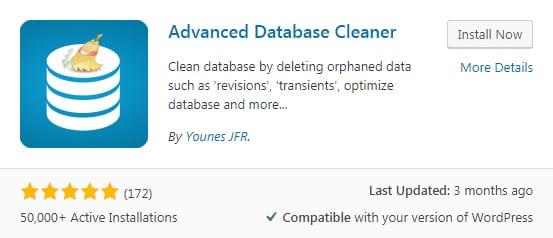 Advanced Database Cleaner