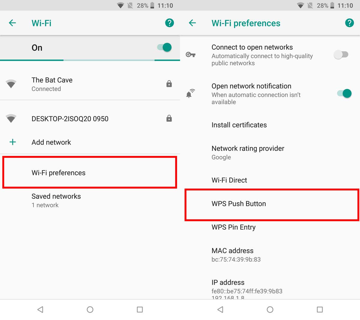 How To Connect To A WiFi Network Using WPS On Android