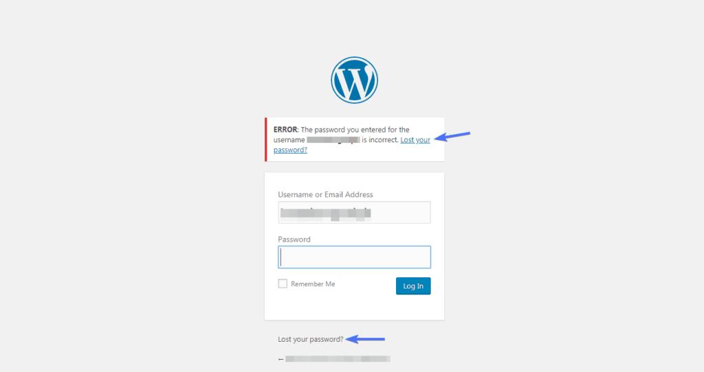 Use password reset to change your WordPress password