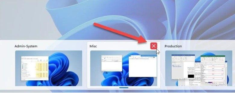 How to delete virtual desktops in Windows 11