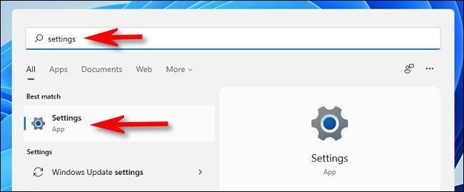Windows Settings 11.