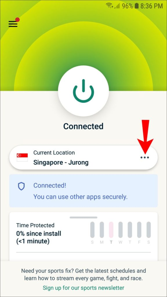 Change IP address on Android.