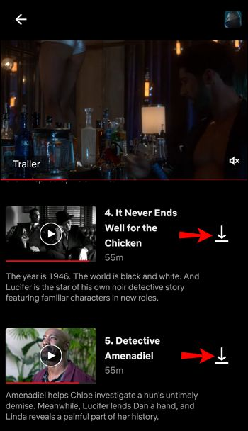 Download full season Netflix from Android
