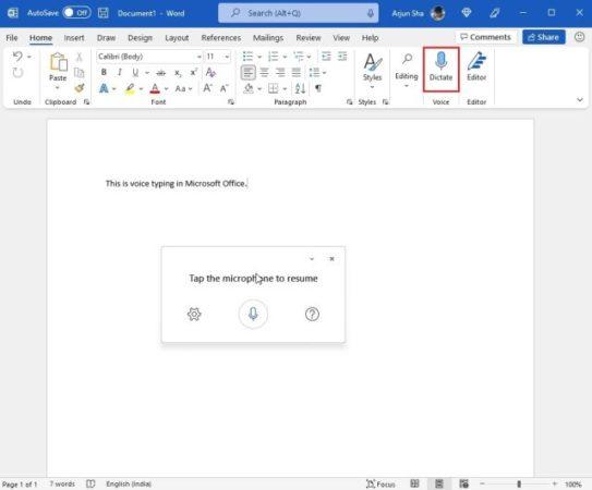 dictation voice Windows 11 3