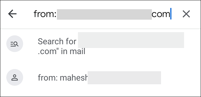 Search sender's email in Gmail.