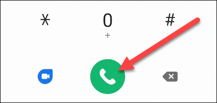 We dial the voicemail number on Android.