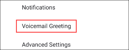 Voicemail settings on Google Pixel.