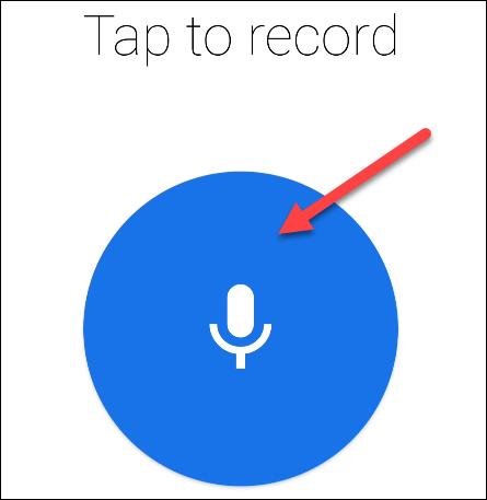 Start recording the greeting.
