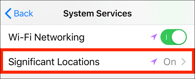 Important locations.