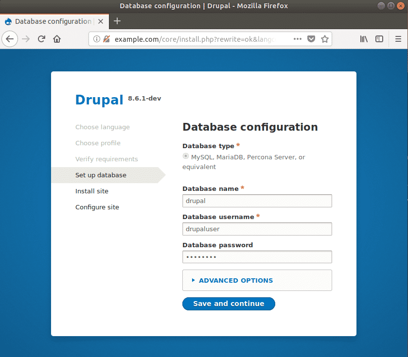 Drupal ubuntu configuration