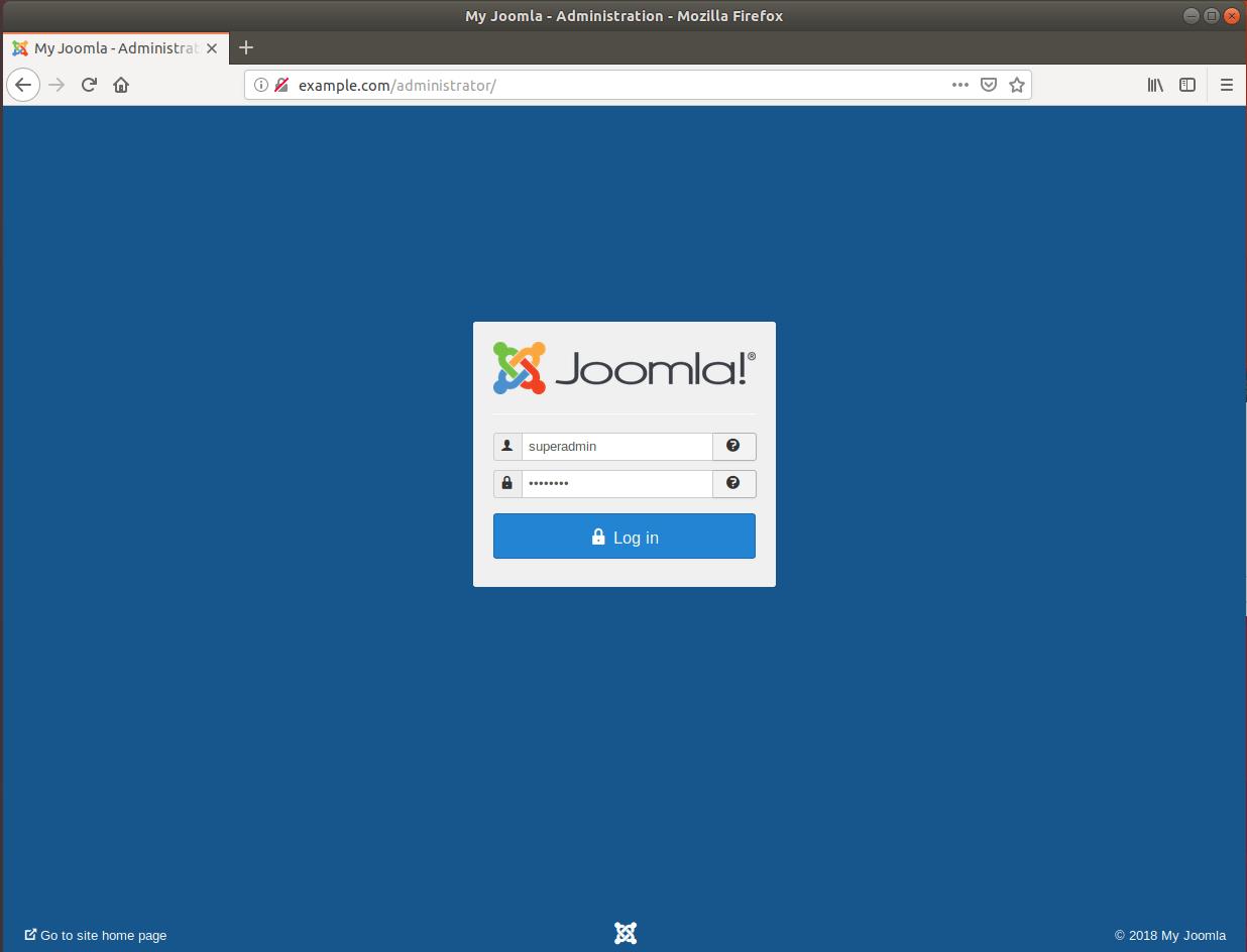 Joomla installation on Ubuntu