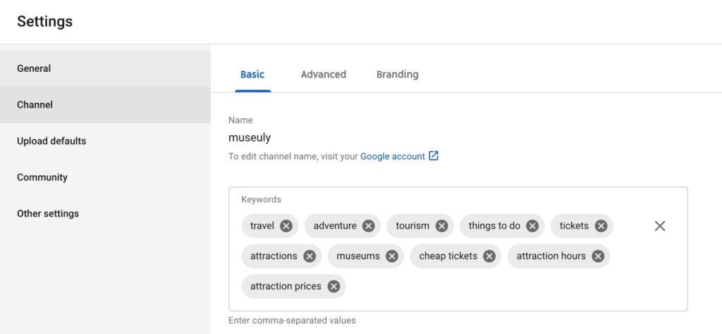 keywords youtube 2